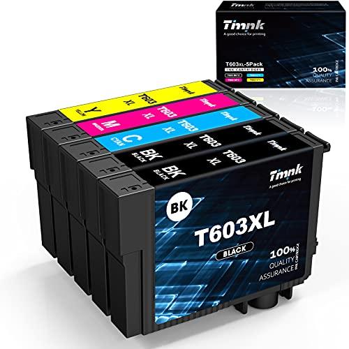 Timink 603XL Cartouche d'encre Compatible Remplacement pour Epson 603 XL pour Epson XP-2100 XP-2105 XP-3100 XP-3105 XP-4100 XP-4105 WF-2810 WF-2830 WF-2850 (5 Pack)