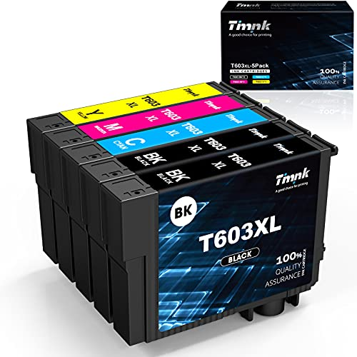 Timink 603 XL Cartucce d'inchiostro Compatibili per Epson 603XL Sostituzione con Epson XP-2100 XP-2105 XP-3100 XP-3105 XP-4100 XP-4105 WF-2810 WF-2830 WF-2850 (5 Pezzi)