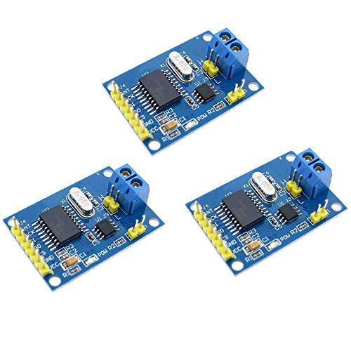 ZkeeShop 3PCS MCP2515 CAN Bus Module TJA1050 Receiver SPI Compatible for Arduino 51 ARM MCU Development Board