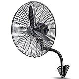 Industrial Ventilador de Pared Oscilante Ventiladores 68cm / 3 Velocidad / 230W / Negro por Taller Bodega Restaurante