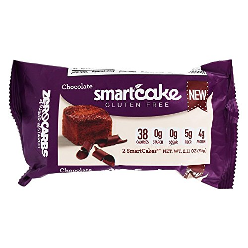 4 Pack, Smart Baking Company, SmartCake ZERO Carbs, Gluten Free, Non-GMO, Sugar Free and Starch Free, Low Carb Dessert, Low Carb Snacks, Low Carb Cupcakes (Chocolate)