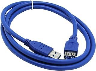 QinKingstore 1ft 6feet USB 3.0オス-メスデータ延長ケーブル1FT USB 3.0延長ケーブルUSB 3.0ケーブルオス-メスブルー0.3m