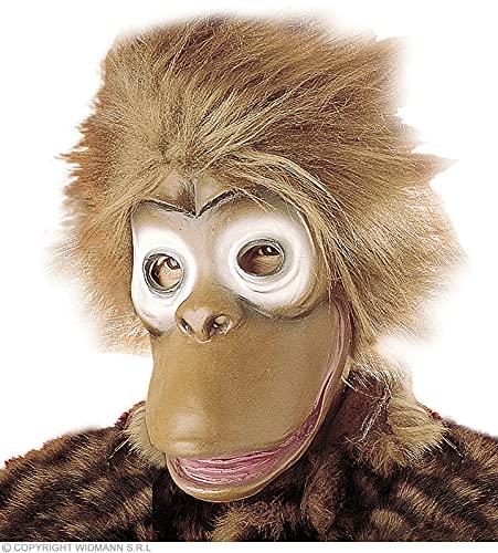 Monkey Mask With Plush Hair Child