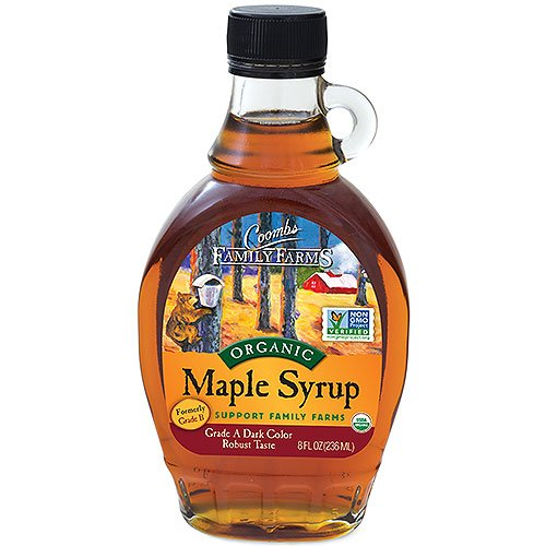 Coombs Family Farms Maple Syrup Organic Grade A Dark Color Robust Taste 8 Fl Oz