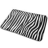 Raya Animal Selva Textura Cebra Negro Blanco Imprimir Fondo Repetir Decoración interior dormitorio alfombra alfombra tela cocina puerta alfombra tela puerta exterior alfombra 40x60cm hogar