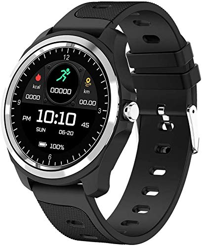 Smartwatch , Bluetooth Smart Watch Bracelet Fitness Tracker Armband Sportuhr mit Pulsmesser Schlafmonitor Schrittzähler, Armbanduhr iOS Android für Damen Herren Laufen/Wandern/Klettern