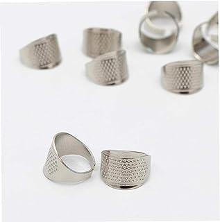 Aisoway Silber DIY Crafts Metall Nähen Thimbles Finger Fingerhut-Schutz-Schild-Ring-Form Thimbles-Schutz