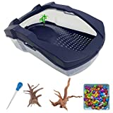 Large Plastic Turtle Tank Aquarium Turtle Habitat Reptile Kit Topper...