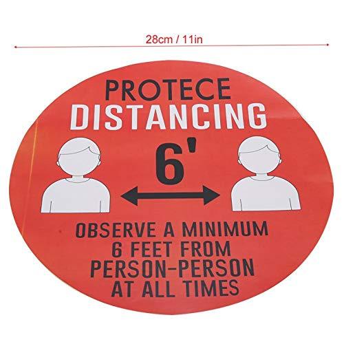Demeras Etiqueta de Distancia Conveniente para el Piso Etiqueta de Distancia de Seguridad para supermercados para Lugares públicos(Style 2)