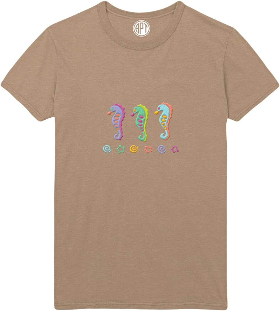 Seahorses Sparkle Dimensional Puff Printed T-Shirt
