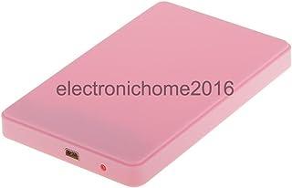 "Generic 2. 5"" SATA to USB 3. 0 Hard Drive External Caddy CASE Enclosure Laptop Pink"