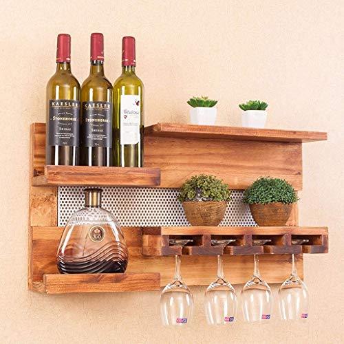 CAIJINJIN estante del vino Sólido Madera Estante del vino Comedor Salón Bar Simple copa de vino en rack creativa estante del vino vino del vidrio rejilla superior Almacenamiento