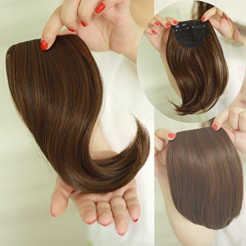 Extensions de cheveux lisses tendance longueur 22,9 cm à clipper sur extension de frange