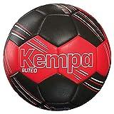 Kempa Buteo Ballon de Handball Unisexe, Jeunesse, Mixte, 200188801, Rouge/Noir, M