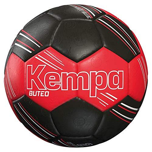 Kempa Buteo Pallone da pallamano, per ragazzi e ragazze, 200188801, rosso/nero, pequeño