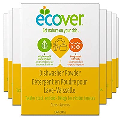 Ecover Dishwasher Soap Powder, Citrus, 48 Ounce (Pack 8)