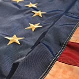 MOFAN Betsy Ross Vintage Embroidered Flag 3x5ft-420D Super Longlasting Fabric- Embroidered Stars and Sewn Stripes- American Pride Flag with 2 Strong Grommets Indoor/Outdoor Patriotic Deco