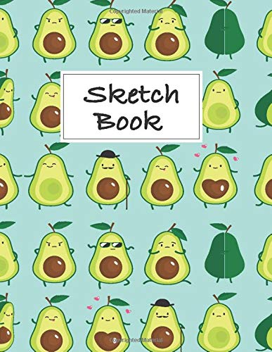 Avocado Sketchbook: Avocado Sketchbook, Cute Avocado Gifts, Avocado Gifts for Women, Avocado Birthday Gift, Avocado party favors, Avocado Themed ... Cute gift, cute sketchbook, Avocado Notebook