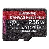 キングストン microSD 256GB 最大285MB/s UHS-II U3 V90 A1 カードリーダー&アダプタ付属 Canvas React Plus MLPMR2/256GB 永久保証