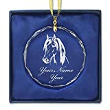LaserGram Christmas Ornament, Horse Head 1, Personalized Engraving Included (Round Shape)