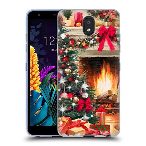 Officiële The Macneil Studio Open haard Kerstboom Soft Gel Case Compatibel voor LG K30 (2019)