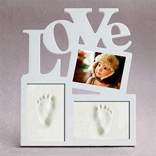 CHSEEO Set de Marco de Fotos y Huellas de Bebé para Niño y Niña, Regalos de Recuerdo Impresión de Huellas de Mano y Pie Fotos y Recuerdos para Bebes #2