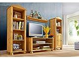LifeStyleDesign Wohnwand, Holz, Natur, 185 x 40 x 130 cm