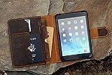 Handmade leather ipad mini 5 case with pencil holder custom leather iPad mini 4 5 cover portfolio folio case IMXPMC