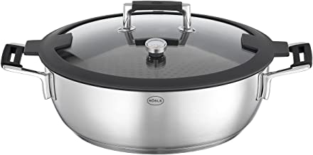 RÖSLE SILENCE PRO Aroma stoomkoker, hoogwaardige stoofpan voor stomen, warm houden en opwarmen, incl. dekselthermometer en...