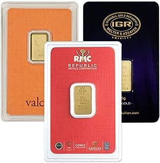 2.5 Gram Gold Bars.9999 Pure
