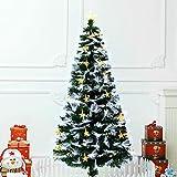 La fibra artificial verde árbol de Navidad óptica con múltiples LED Fuente Pre Lit falso pino delgado del lápiz árboles de Navidad vestíbulo del hotel Plaza Contador Ventana Festival de Decoración