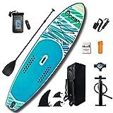 YUANYI Sup Padel Surf Hinchable Adulto para Adultos Niños Principiantes Yoga Intermedio Paddleboard Hard Shell Set,Blue