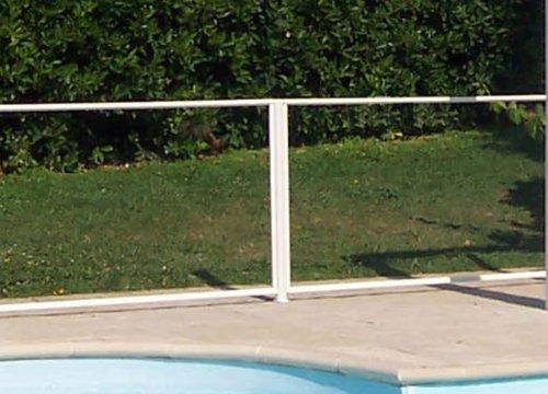 Chalet et Jardin - 24POTEAU - Poteau en Aluminium Laqué - Blanc
