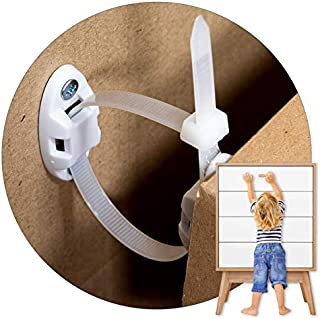 Heavy-Duty Anti-Tip Furniture Straps - 12 Pack - Inaya - Home Furniture Wall Anchors for Baby Proofing Dressers, Cabinets,...