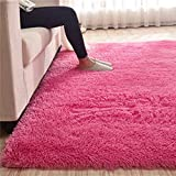 Alfombra suave de felpa para sala de estar, pelo sintético, tamaño grande, 200 x 300 cm, para dormitorio, hogar, alfombra para niños, antideslizante, alfombra para piso