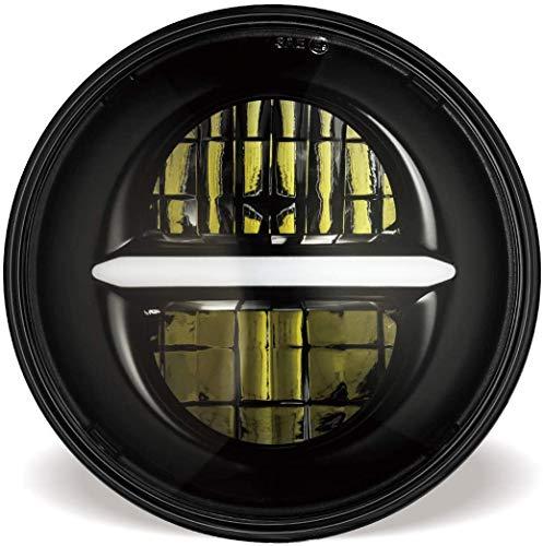 5-3/4 5.75 '' LED Scheinwerfer für Harley Davidson Motorrad, LED-Projektor-Fahrlicht mit DRL (Schwarz)