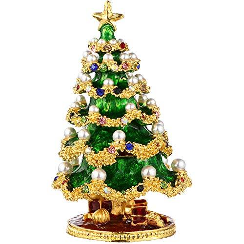 Christmas Tree Decoration Box, Jewelry Storage Box Decoration Christmas Home Decoration Craft Gift, for DIY Christmas Decoration (8.8 X 5.5)