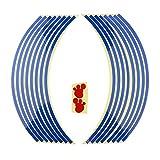Sharplace Pegatinas Set Bandas Llantas Reflectantes para Vehículos - Azul