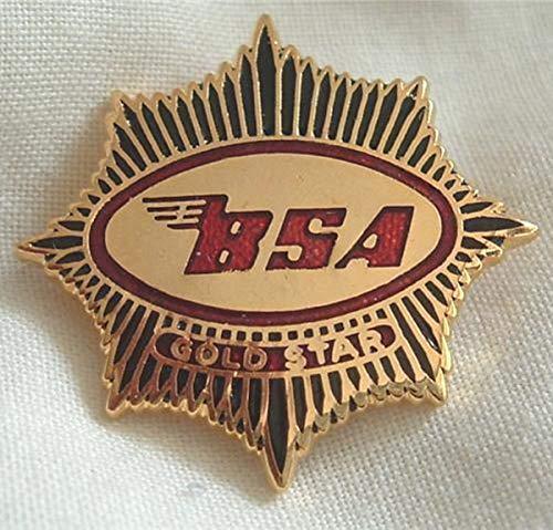 Unbekannt BSA Anstecknadel Gold Stern Emaille