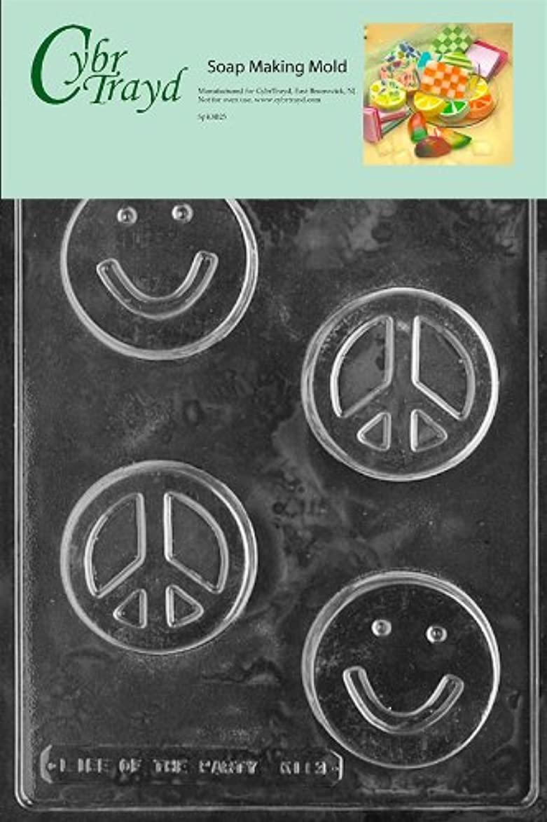 Cybrtrayd Smile Face/Peace Bar Kids Soap Mold with Exclusive Cybrtrayd Copyrighted Soap Molding Instructions jrz468958967640