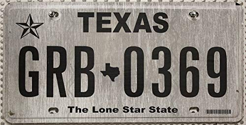 Texas Nummernschild USA Kennzeichen , US License Plate THE LONE STAR STATE , Flaches Metall-Schild