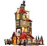 QZPM Kit De Iluminación Led para Lego El Ataque De Harry Potter A La Madriguera, Compatible con Ladrillos De Construcción Lego Modelo 75980, Juego De Legos No Incluido