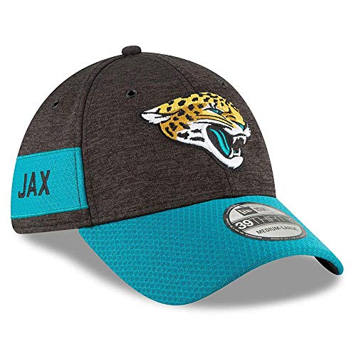 New Era 3930 Onf18 SL Hm Jacjag Cap Jacksonville Jaguars, Herren M Schwarz