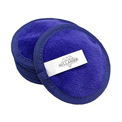 BELLANIER: Abschminken NUR MIT WASSER. 7 Stk. XL Abschminkpads waschbar. Mikrofaser Abschminktücher I Microfaser Gesichtsreinigungstücher I Abschminktücher wiederverwendbar