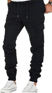 OTW Men Multi-Pockets Plus Size Cargo Outdoor Elastic Waist Jogger Pants Sweatpants