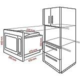 Bomann MWG 2216 H EB Einbau-Mikrowelle mit Grill und Heißluft - 4
