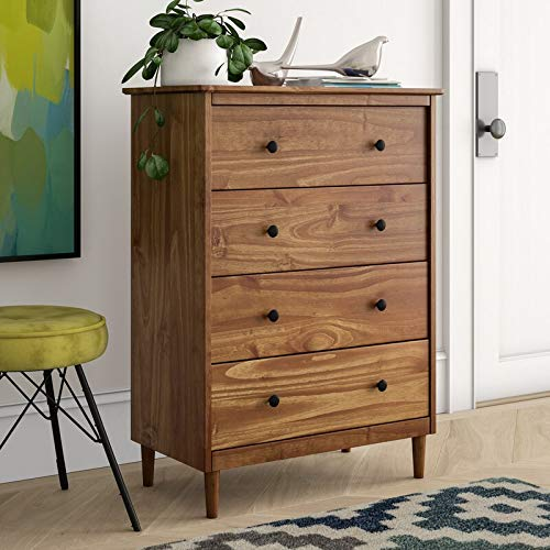 Find Bargain 4 Drawer Dresser, Caramel Brown