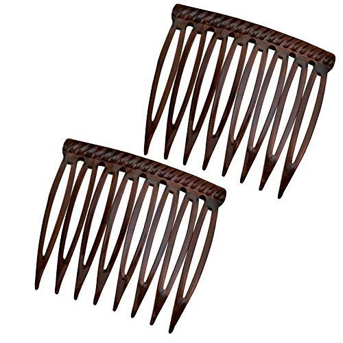 Good Hair Days Grip Tuth Hair Combs 40073 Set of 2, Shell 1 1/2
