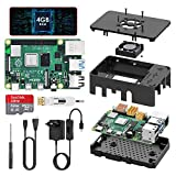 TICTID Raspberry Pi 4 Modèle B (4 B) 4Go Upgraded for Raspberry Pi 3 Starter Kit 2019 Version 32Go...