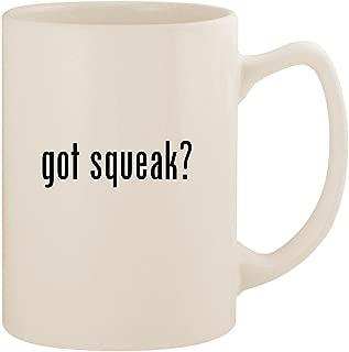 got squeak? - White 14oz Ceramic Statesman Coffee Mug Cup